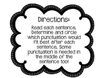 Punctuation Power Game