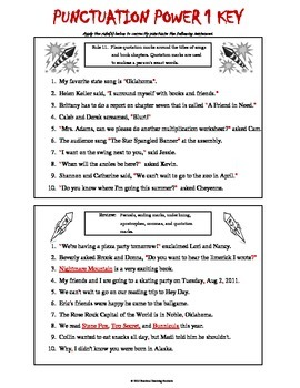 Punctuation 1 - Including 4th Grade Common Core & Oklahoma Academic Standards
