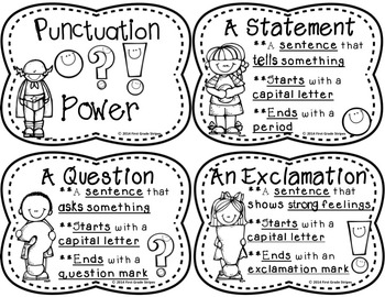 Punctuation Power Signs & Interactive Journal Activities Foldables
