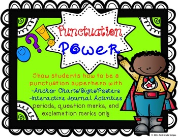 Punctuation Power Signs & Interactive Journal Activities F