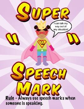 Punctuation Power - Superheroes Poster Pack (UK Version)