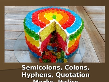 Colons, Semicolons, Quotation Marks, Italics, and Hyphens PowerPoint