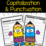 Capitalization and Punctuation Practice Sheets