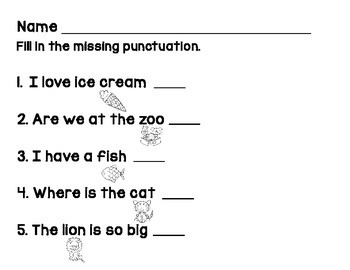 Punctuation Practice Adapted Book & Practice Pages