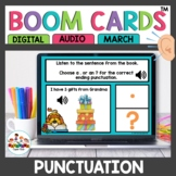 Punctuation Practice Boom Cards Spring Themed