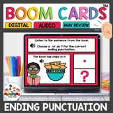 Punctuation Practice Boom Cards for Kindergarten