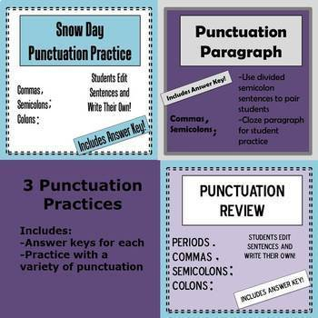 Punctuation Practice Bundle
