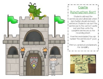 Punctuation Practice Center - Castle Theme
