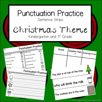 Punctuation Practice - Christmas Theme