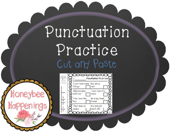 Punctuation Practice Cut and Paste