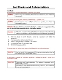 Punctuation Practice | End Marks and Abbreviations | Grammar Worksheets | G 9-10