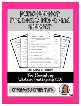 Punctuation Practice Matching Station