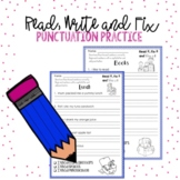 Capital Letters and Punctation Worksheets