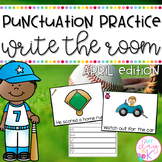 Punctuation Practice Write the Room-April Themed