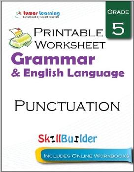 Punctuation Printable Worksheet, Grade 5