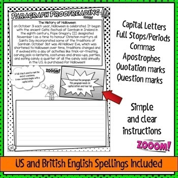 Punctuation Proofreading Practice Activity Worksheets