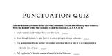 Punctuation Quiz 1