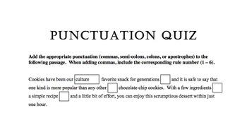 Punctuation Quiz 2