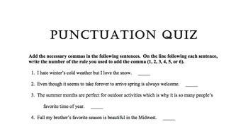 Punctuation Quizzes 1-3
