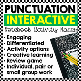 Punctuation Races: Interactive Notebook Writing Activities (Editable)