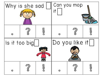 Punctuation Read & Clip Cards