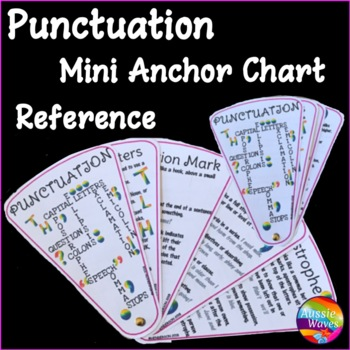 Punctuation Reference FAN! A mini anchor chart for all common Punctuation Marks.
