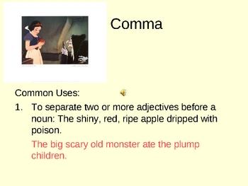 Punctuation Review, Commas