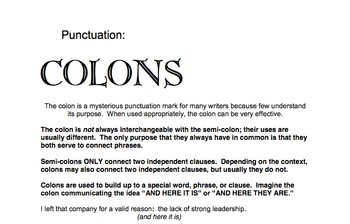 Punctuation Review