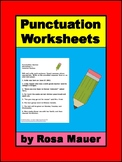 Punctuation Review Worksheets for Practice or Assessment