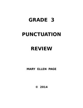 Punctuation Review for Grade 3