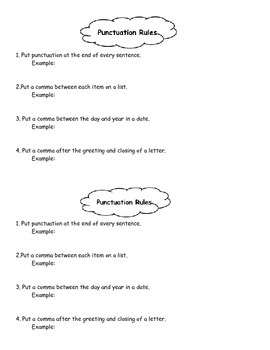 Punctuation Rules Notes