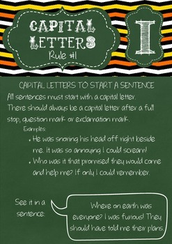 Punctuation Rules Posters - Capital Letters