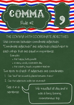Punctuation Rules Posters - Commas