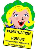 Punctuation Rules Posters {ESL Beginner & Intermediate levels)