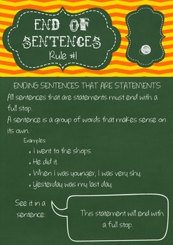Punctuation Rules Posters - WHOLE SET