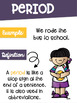 Punctuation Rules Posters in Color with a Colorful Kids Theme