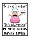Punctuation Saves Lives - 8x10 Poster for the Classroom