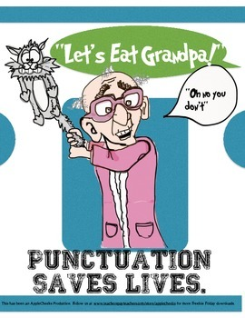 Punctuation Saves Lives Classroom  Poster Poster 3