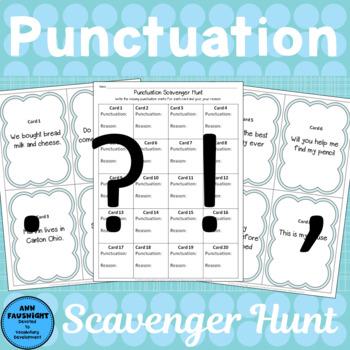 Punctuation Scavenger Hunt