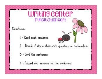 Punctuation Sentence Sort
