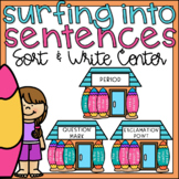 Punctuation Sentence Sort for 1st Grade Literacy Centers S