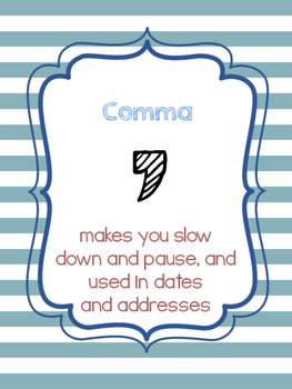 Punctuation (Signs/Bulletin Display)