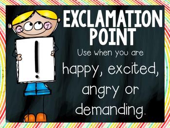 Punctuation Signs~ Chalkboard Rainbow Theme