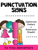 Punctuation Signs - Classroom Posters and Reference Sheets