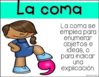 Punctuation Signs Posters in Spanish