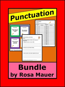 Punctuation Skills Language Arts Bundle