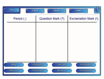 Punctuation SmartBoard Activity Common Core ELA