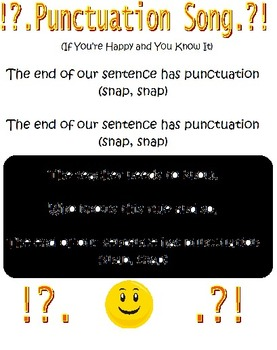 Punctuation Song