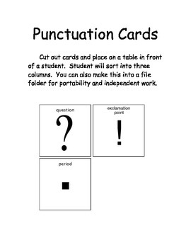 Punctuation Sort