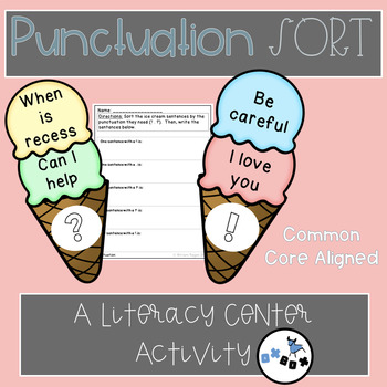 Punctuation Sort Activity: An ELA Center or Game